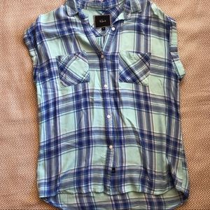 Rails Whitney Blueberry Bliss Button Down Top